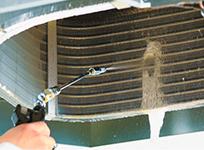 分解不可能な内部の汚れは高圧洗浄